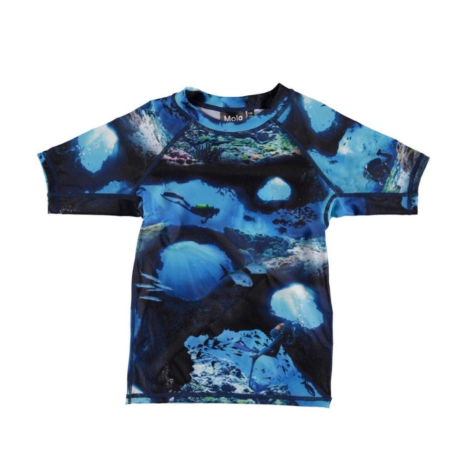Molo - Neptune Short Sleeve Rash Guard - Cave Camo Swimwear Molo