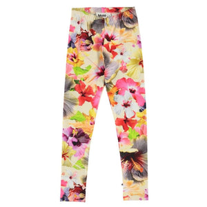 Molo - Niki - Pacific Floral Organic Cotton Leggings Leggings Molo 2 Years (92)