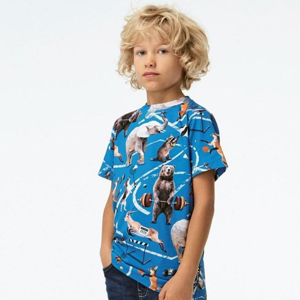 Molo - Ralphie Athletic Animals Kids T-Shirt Short Sleeve Shirts Molo