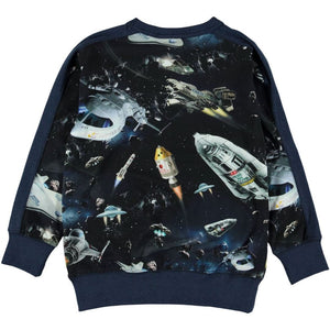 Molo Reno Space Traffic Kids Sweatshirt Sweatshirt Molo