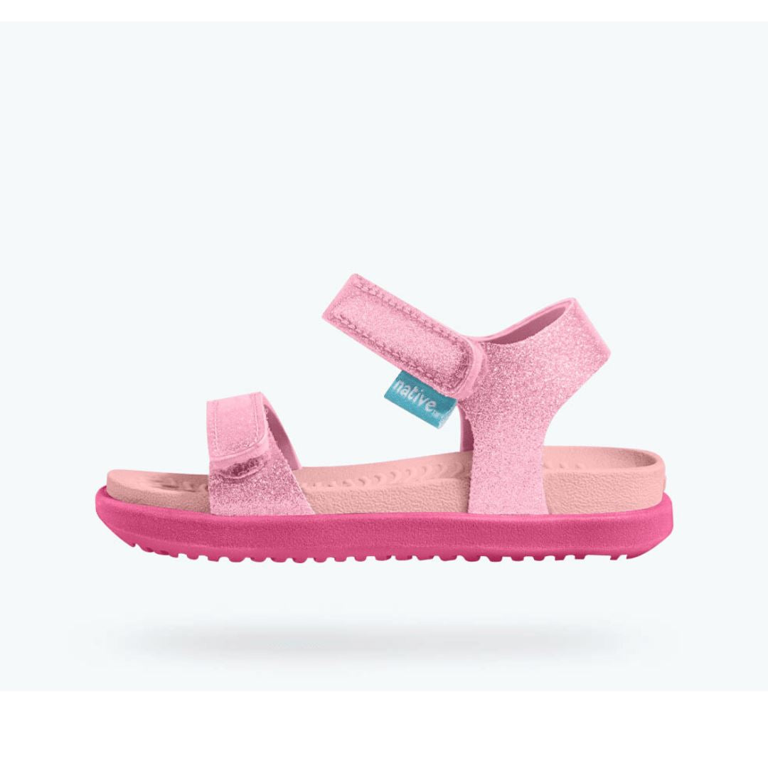 Native Charley Glitter Sandals - Princess Pink / Hollywood Pink Sandals Native
