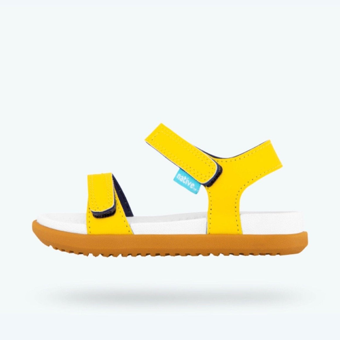 Native Charley Sandals - Crayon Yellow / Shell White /Toffee (Toddler 4 - Youth 3) Sandals Native Toddler 4