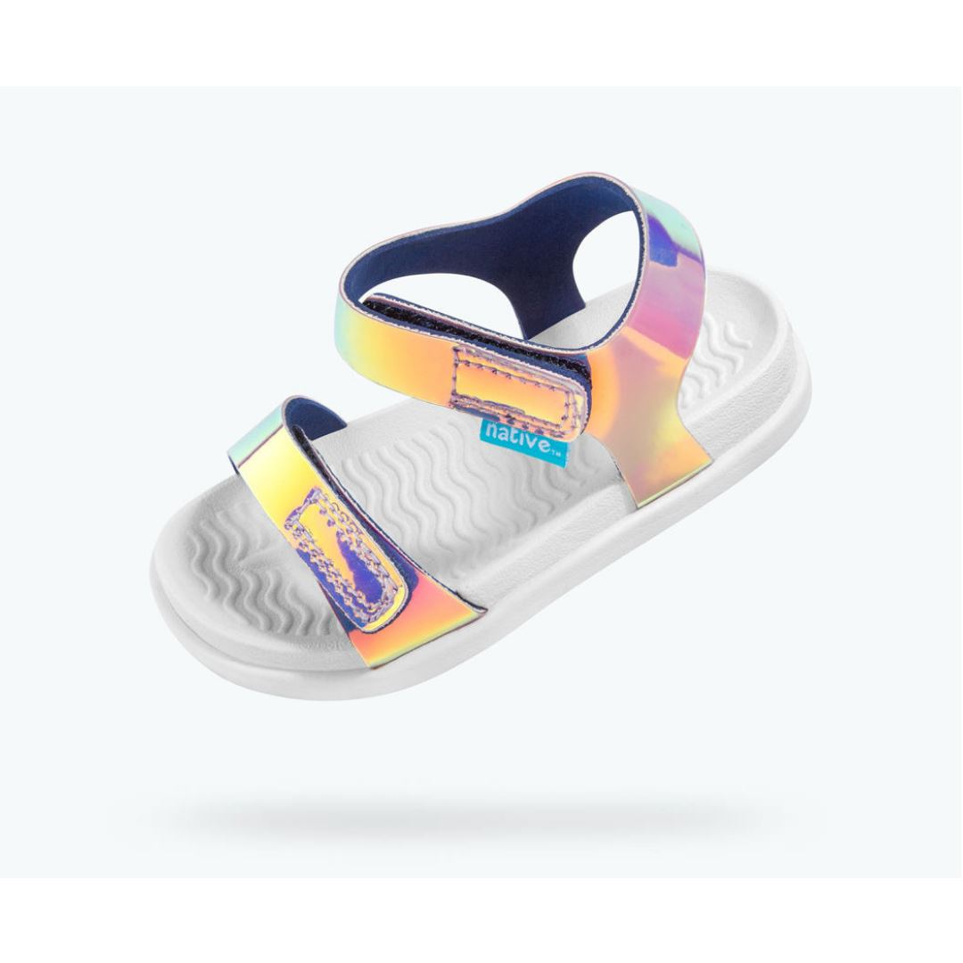 Native Charley Sandals - Pink Hologram / Shell White (Toddler 4 - Youth 3) Sandals Native Toddler 4