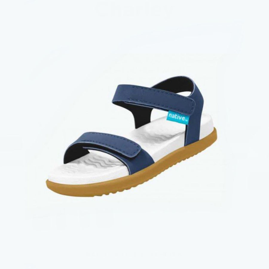 Native Charley Sandals - Regatta Blue / Shell White /Toffee (Toddler 4 - Youth 3) Sandals Native Toddler 4