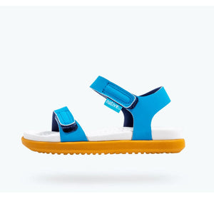 Native Charley Sandals - Vivid Blue / Shell White /Toffee Sandals Native