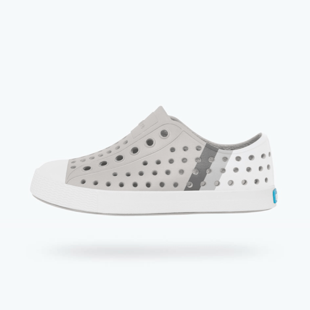 Native - Jefferson Block Pigeon Grey / Shell White / Gradient Kids Shoes footwear Native