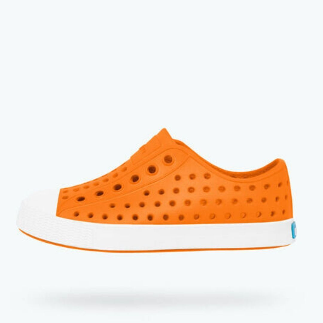 Native - Jefferson City Orange / Shell White Kids Shoes Footwear Native