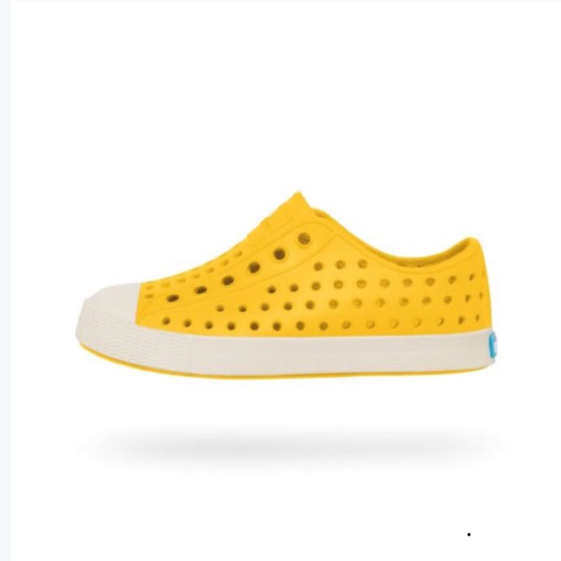 Native - Jefferson Crayon Yellow / Shell White Kids Shoes (Toddler 4 - Youth 4) footwear Native
