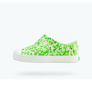 Native - Jefferson Cucumber Green / Shell White Digi Print Kids Shoes Footwear Native