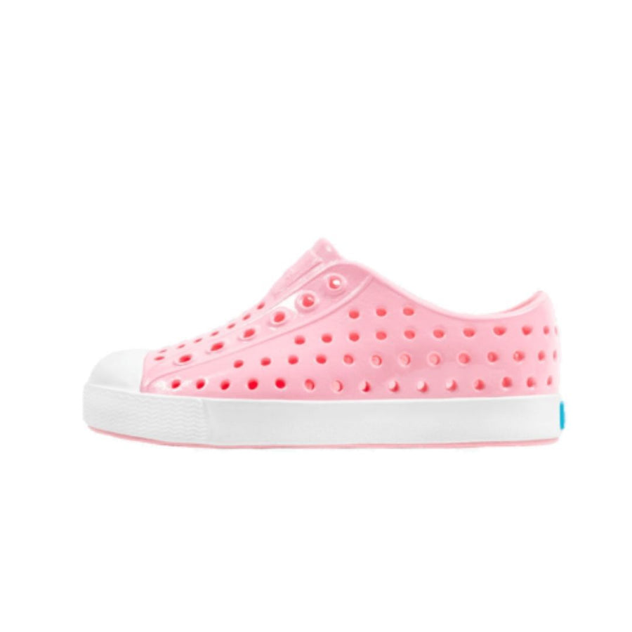 Native - Jefferson Gloss Kids Shoes - Princess Pink / Shell White Footwear Native