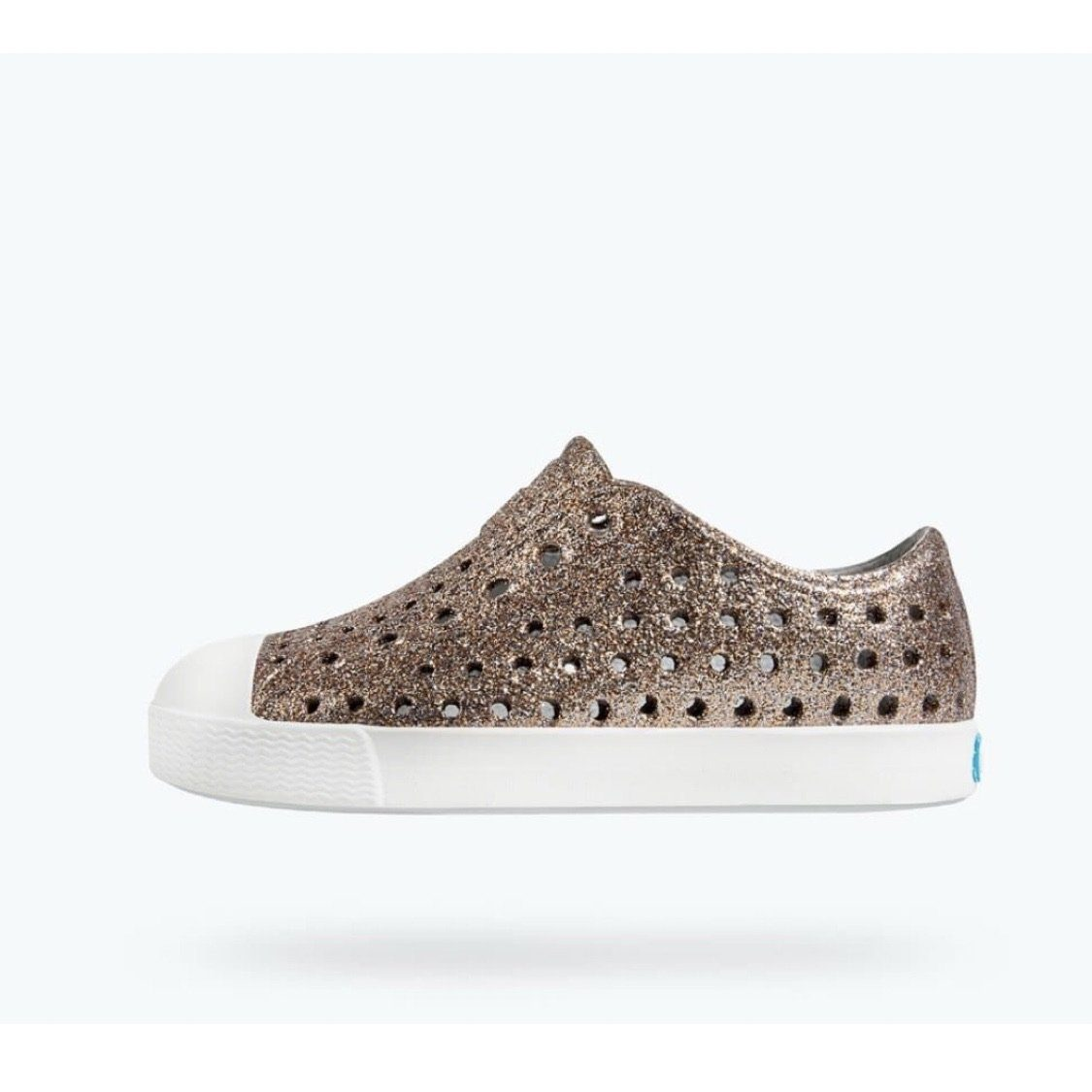 Native - Jefferson Metal Bling / Shell White Kids Shoes footwear Native