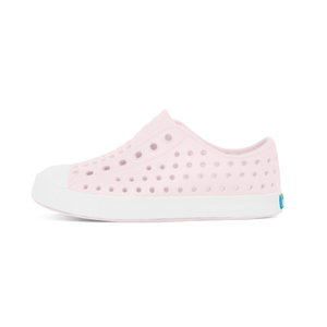 Native - Jefferson Milk Pink / Shell White Kids Shoes (Toddler 4 - Youth 6) footwear Native 4