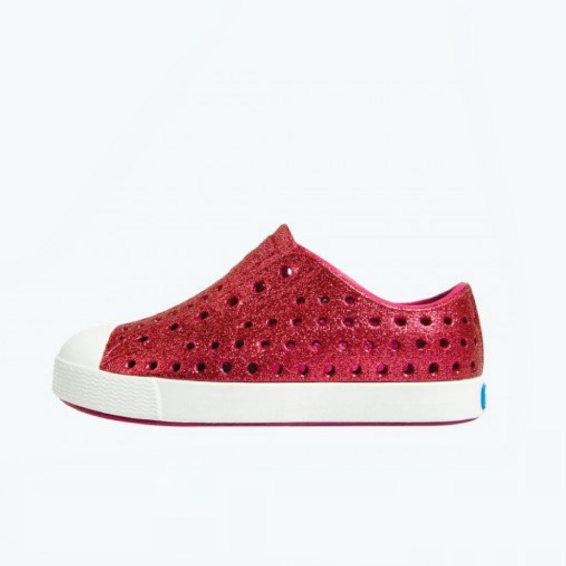 Native - Jefferson Sakura Bling / Shell White Kids Shoes footwear Native