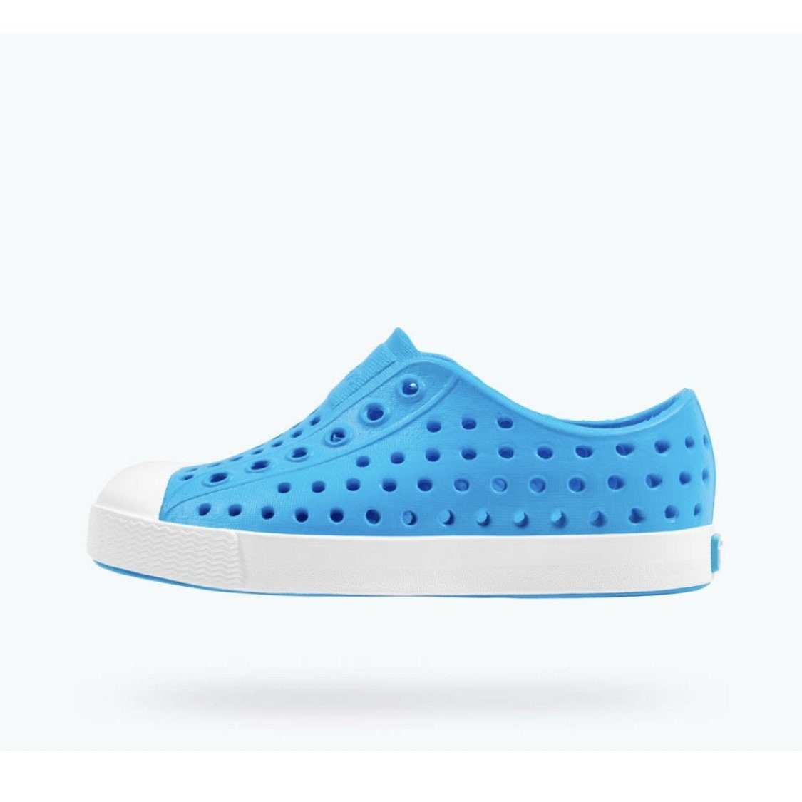 Native - Jefferson Vivid Blue / Shell White Kids Shoes footwear Native