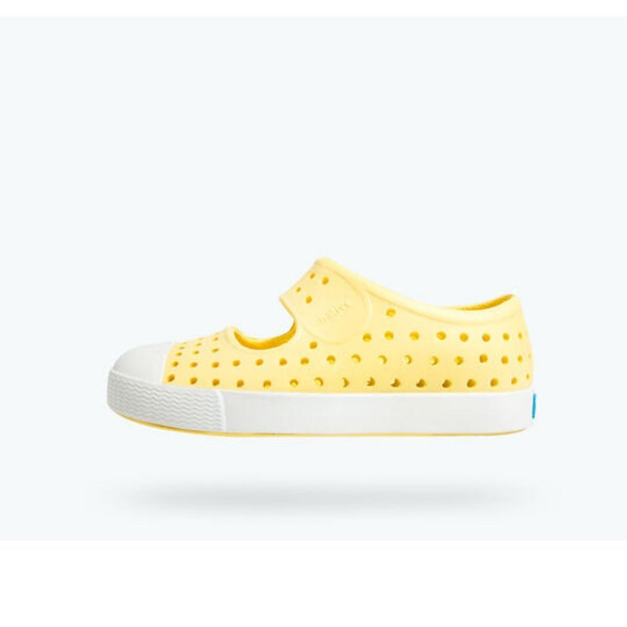 Native - Juniper Yellow Bananas / Shell White Kids Shoes Footwear Native