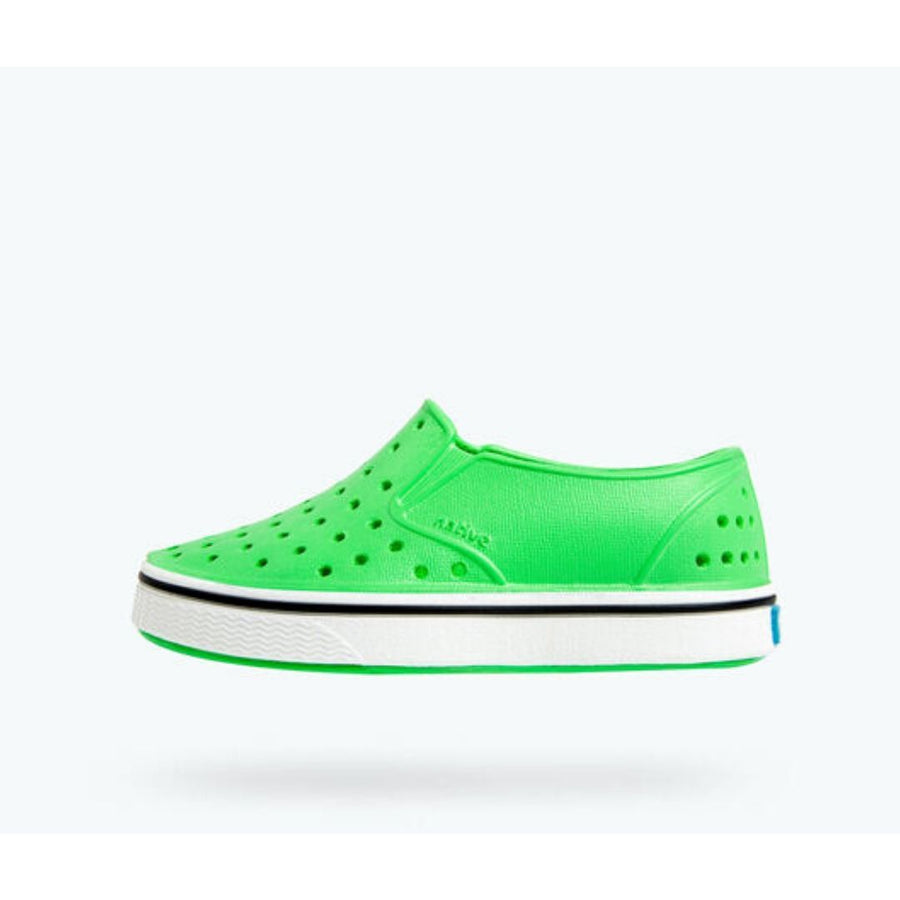 Native - Miles Grasshopper Green / Shell White Kids Shoes footwear Native