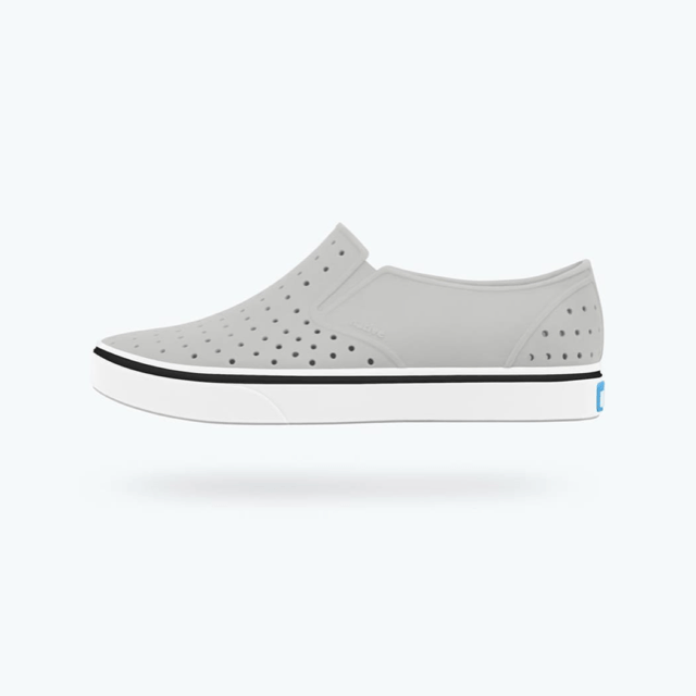 Native - Miles Pigeon Grey / Shell White Kids Shoes footwear Native