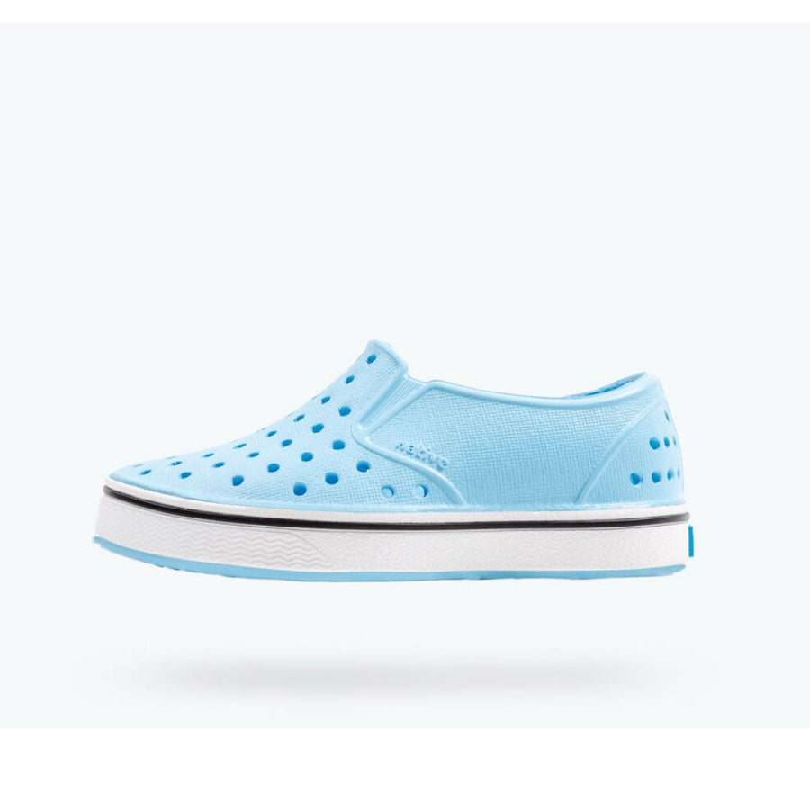 Native - Miles Sky Blue / Shell White Kids Shoes footwear Native
