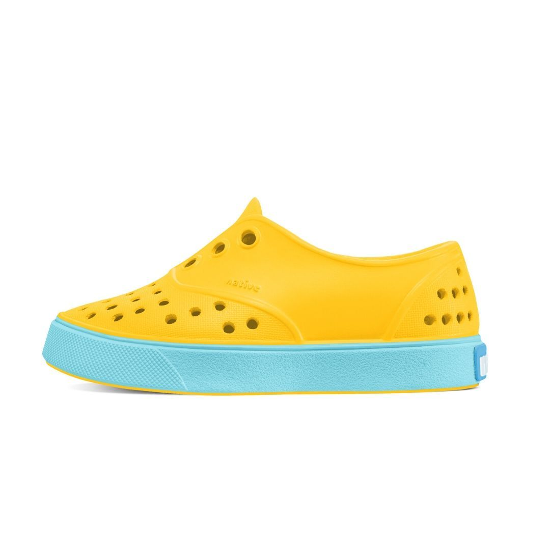 Native - Miller Groovy Yellow / Surfer Blue Kids Shoes Footwear Native