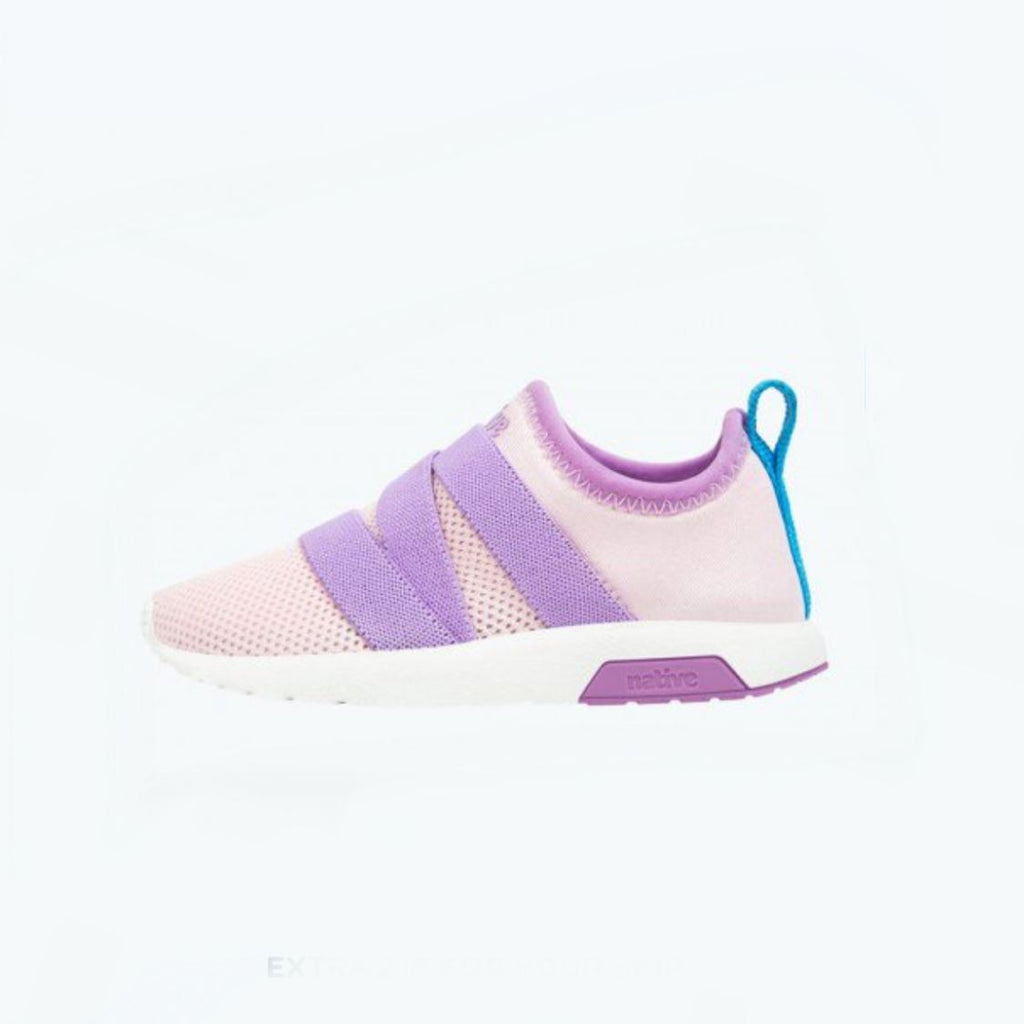 Native Phoenix - Cold Pink / Lavender Purple / Shell White Kids Running Shoes (Toddler 5 - Kids 12) footwear Native