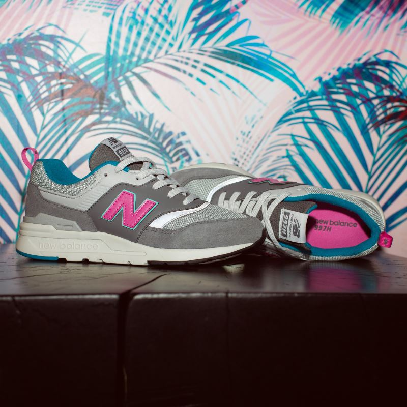 New Balance -GR997HAH Castle Rock with Peony Girls Running Shoes (Youth 3 - 5) Footwear New Balance