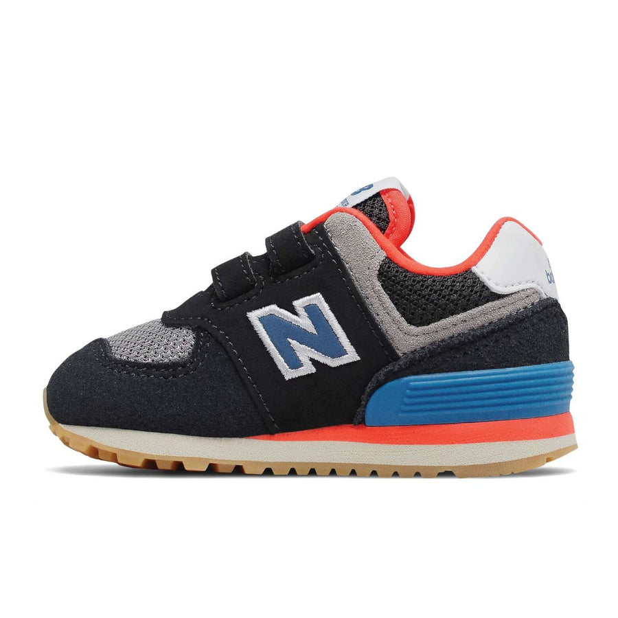 New Balance - IV574SOV Boys Running Shoes (Toddler 2 - Toddler 10) - Black Orange Footwear New Balance