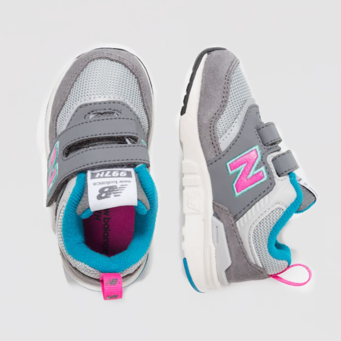 New Balance - IZ997HAH Castle Rock with Peony Girls Running Shoes (Toddler 4 - Toddler 10) Footwear New Balance