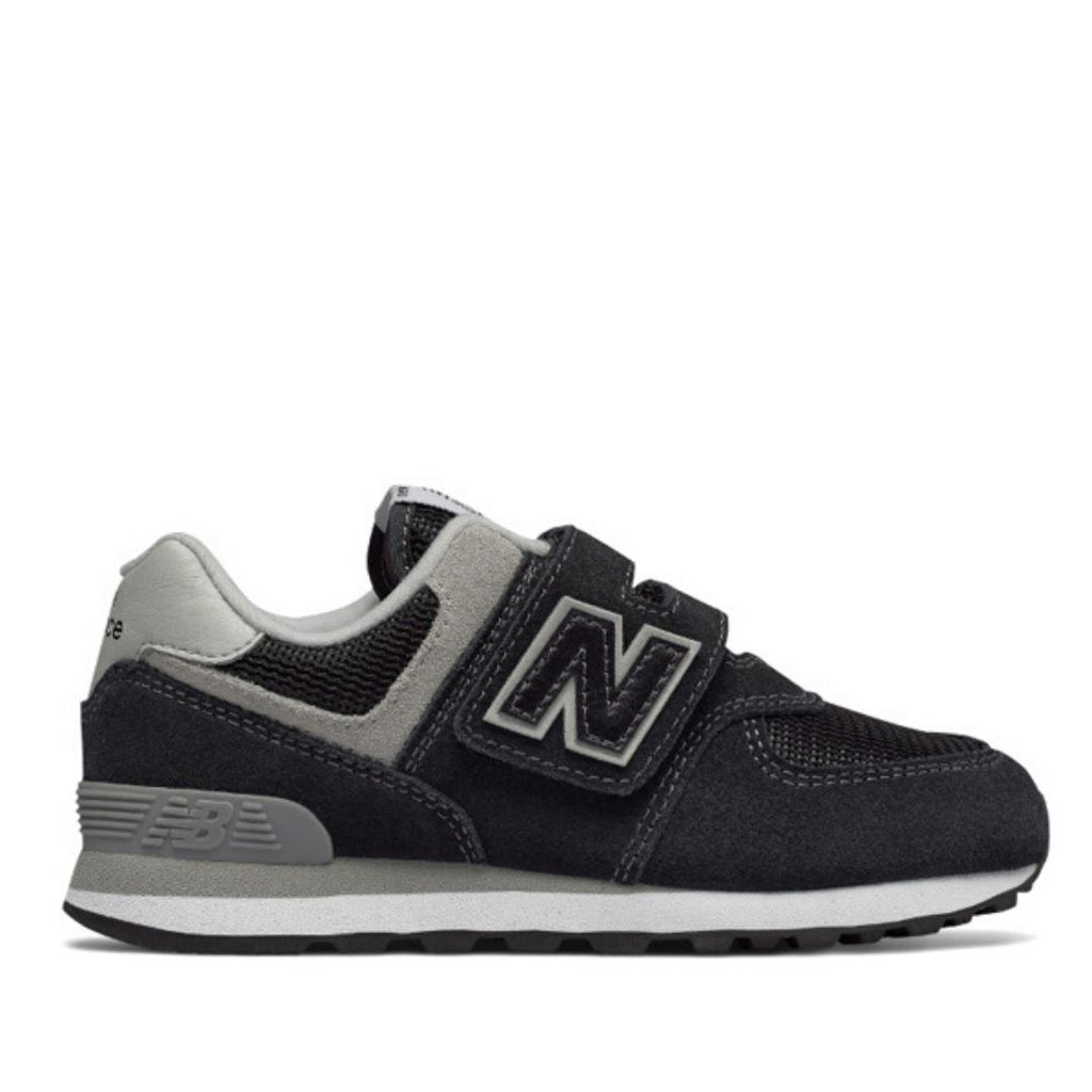 New Balance - YV574GK Black with Grey Unisex Running Shoes (Kids Size 10.5 - Youth 3) Footwear New Balance