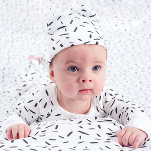 Niovi - Organic Cotton Monochrome Graphic Baby Hat Hats Niovi Organics