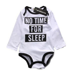 No time for sleep long sleeve onesie (18-24 Months) Onesie Tiny Trendsetter