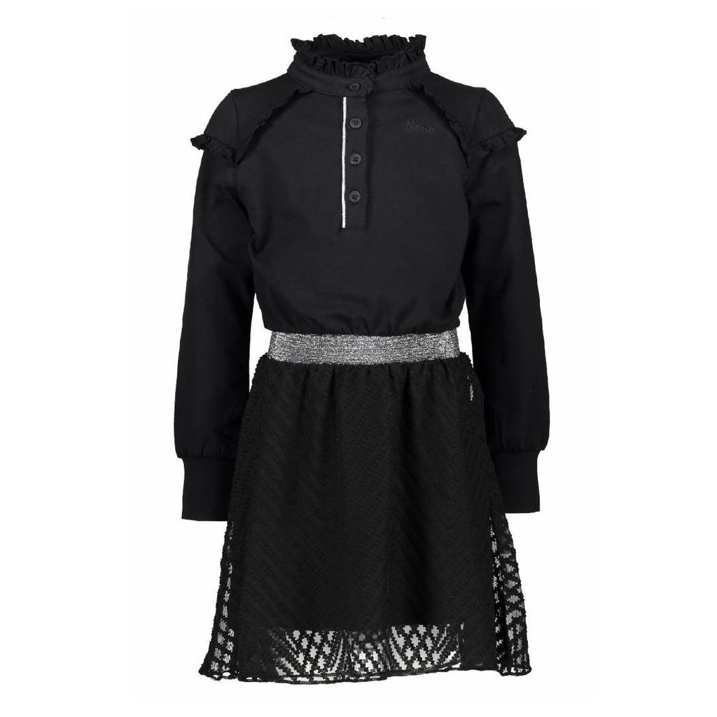 Nono- Meral long sleeve ruffles and voile skirt dress Dress NoNo