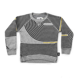 NU2312 - Nununu Unisex Spiral Sweatshirt - Heather Grey Sweatshirt Nununu