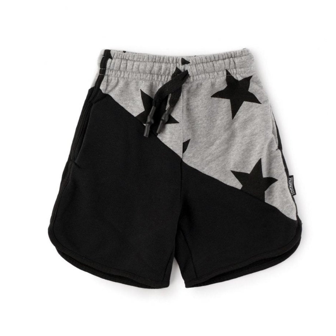 NU2557 - Nununu Unisex 1/2 and 1/2 Star Sweatshorts Shorts Nununu