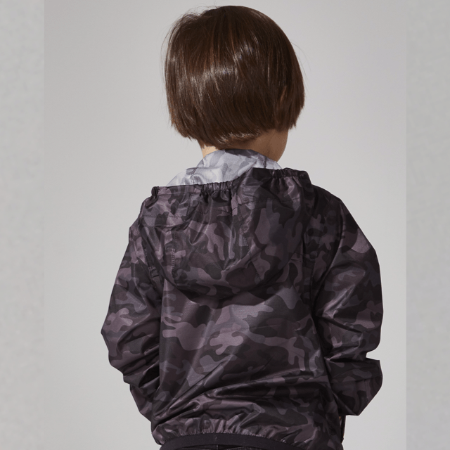 O8 - Black Camo Kids Packable Jacket Outerwear O8