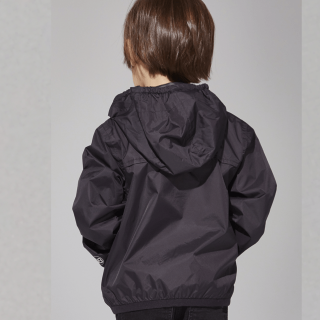 O8 - Black Kids Packable Jacket Outerwear O8