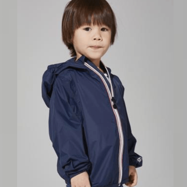 O8 - Navy Kids Packable Jacket Outerwear O8