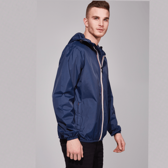 O8 - Navy Mens Packable Jacket Outerwear O8