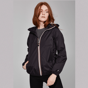 O8 - Sloane Black Full-Zip Womens Packable Jacket Outerwear O8