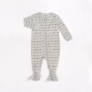 "Petit Lem - ""Dotted Lines"" Sleeper with Organic Cotton Sleeper Petit Lem"