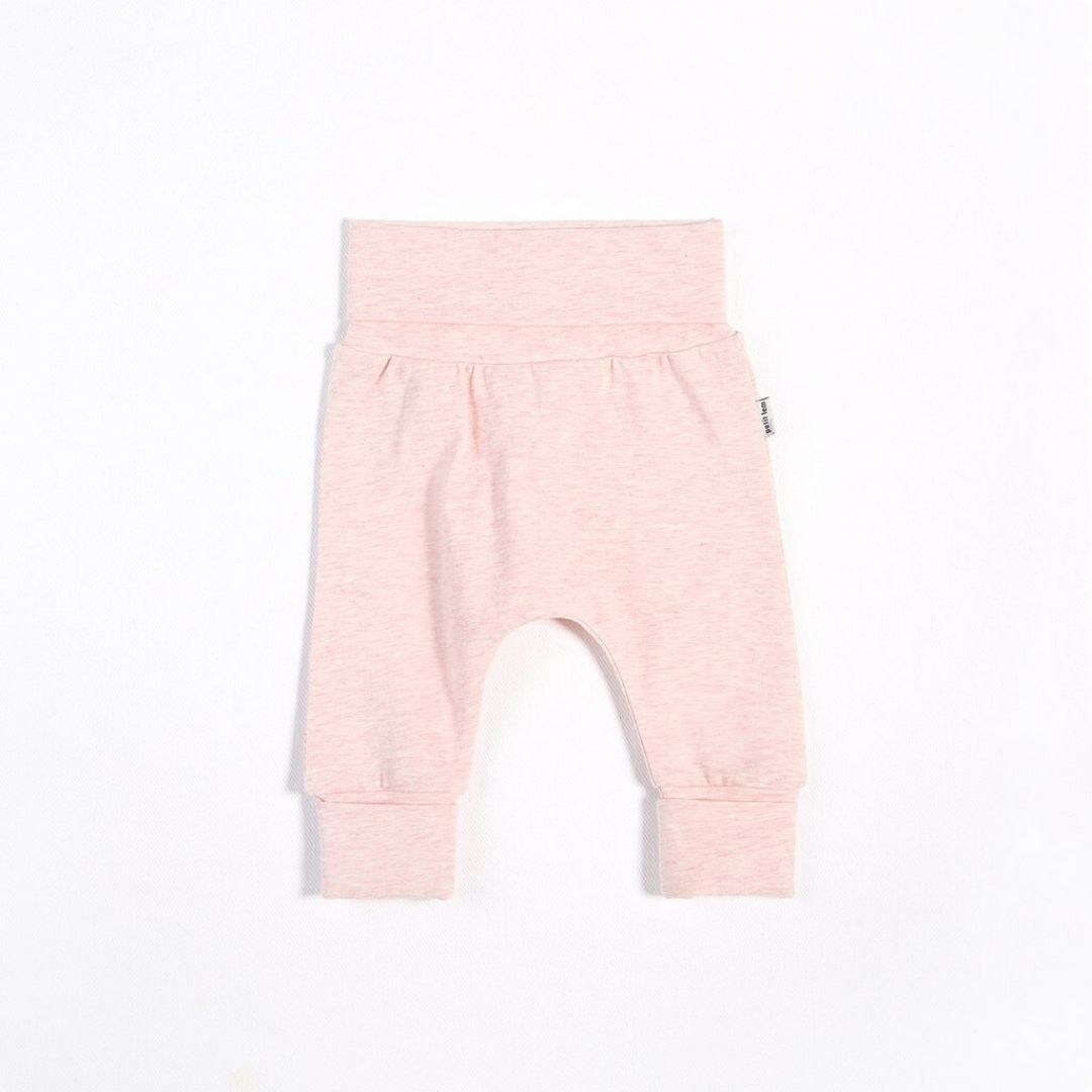 "Petit Lem - ""Essentials"" Heather Pink Grow With Me Pant with Organic Cotton Pants Petit Lem"