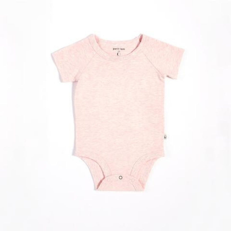 "Petit Lem - ""Essentials"" Heather Pink Onesie with Organic Cotton Onesie Petit Lem"