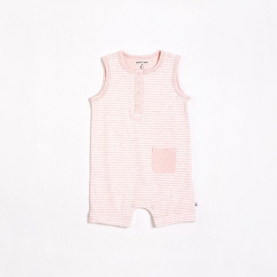 "Petit Lem - ""Essentials"" Pink Romper with Organic Cotton Romper Petit Lem"