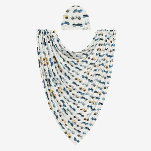 Posh Peanut - Enzo Infant Swaddle and Beanie Set Swaddle Posh Peanut