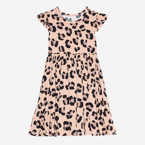 Posh Peanut - Sasha Ruffled Cap Sleeve Girls Twirl Dress Dress Posh Peanut