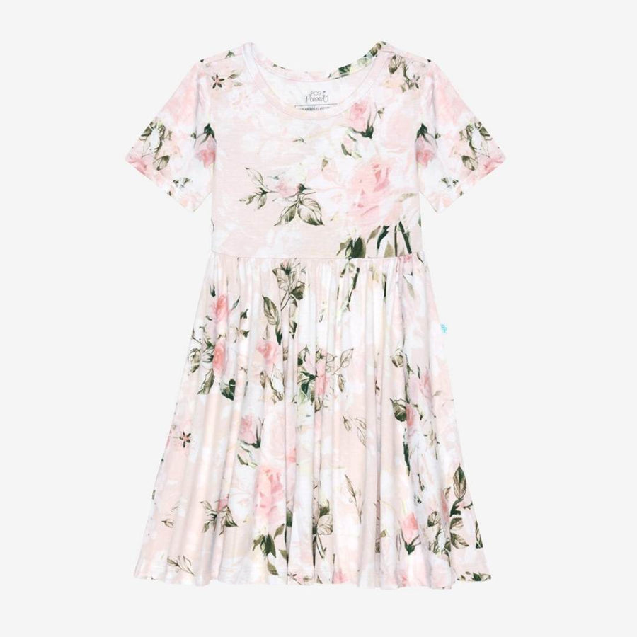 Posh Peanut - Vintage Pink Rose Twirl Dress Dress Posh Peanut