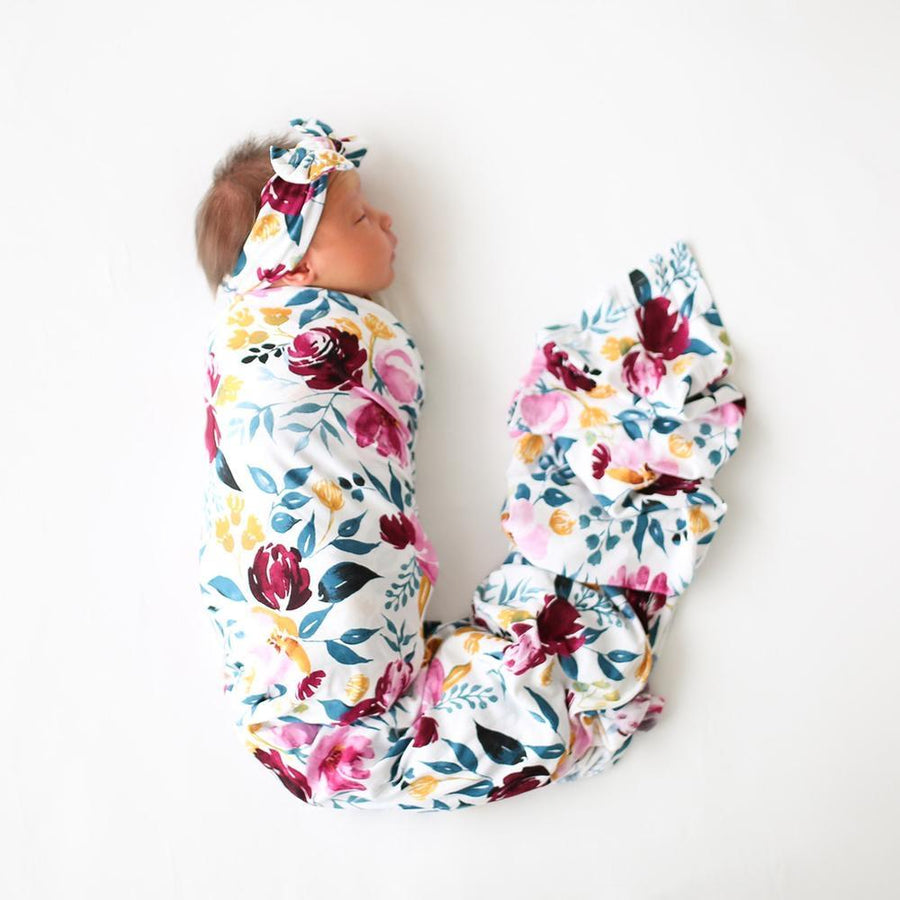 PP-INFSWDLHB-JOZIE Posh Peanut - Jozie Infant Swaddle and Headband Set Swaddle Posh Peanut