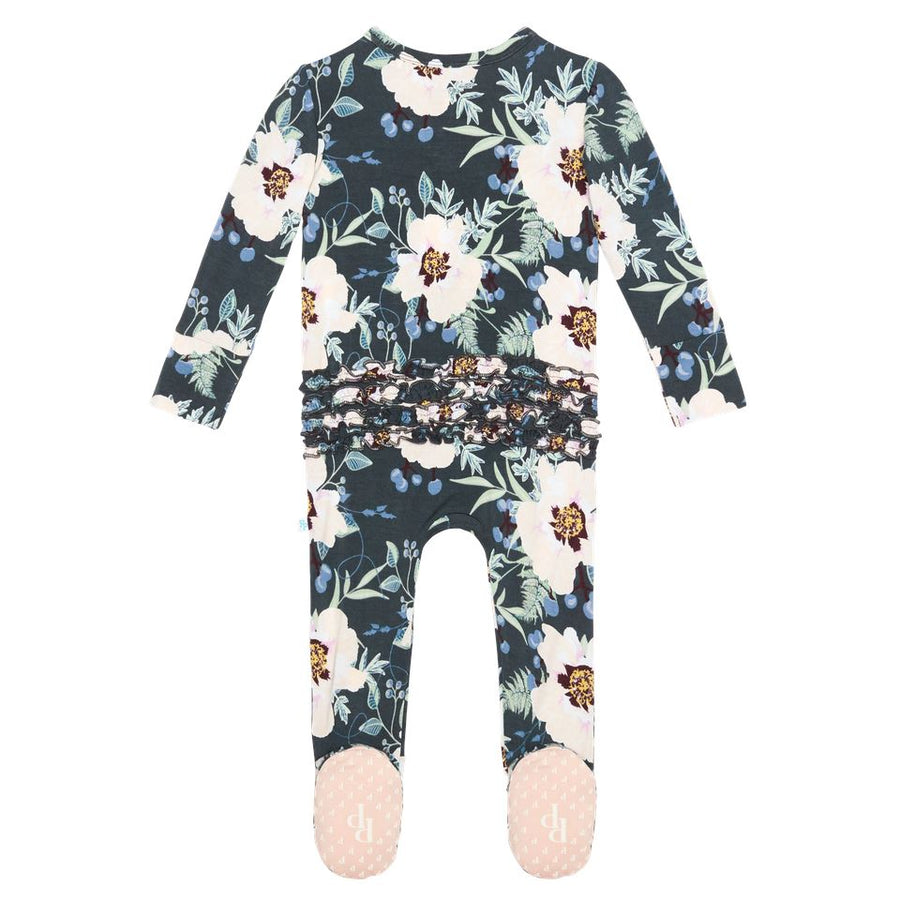 PP-RFLSZB-PAYTON Posh Peanut - Payton Footie Ruffled Zippered One Piece Romper Posh Peanut
