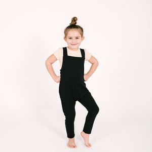 PRE-ORDER Smash + Tess- The Mini Romperalls In Midnight Black Jumpsuits / Rompers Smash+Tess
