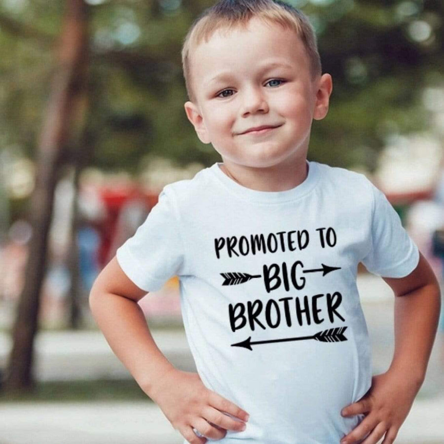 Promoted to Big Brother T-shirt Short Sleeve Shirts Tiny Trendsetter 2 Years