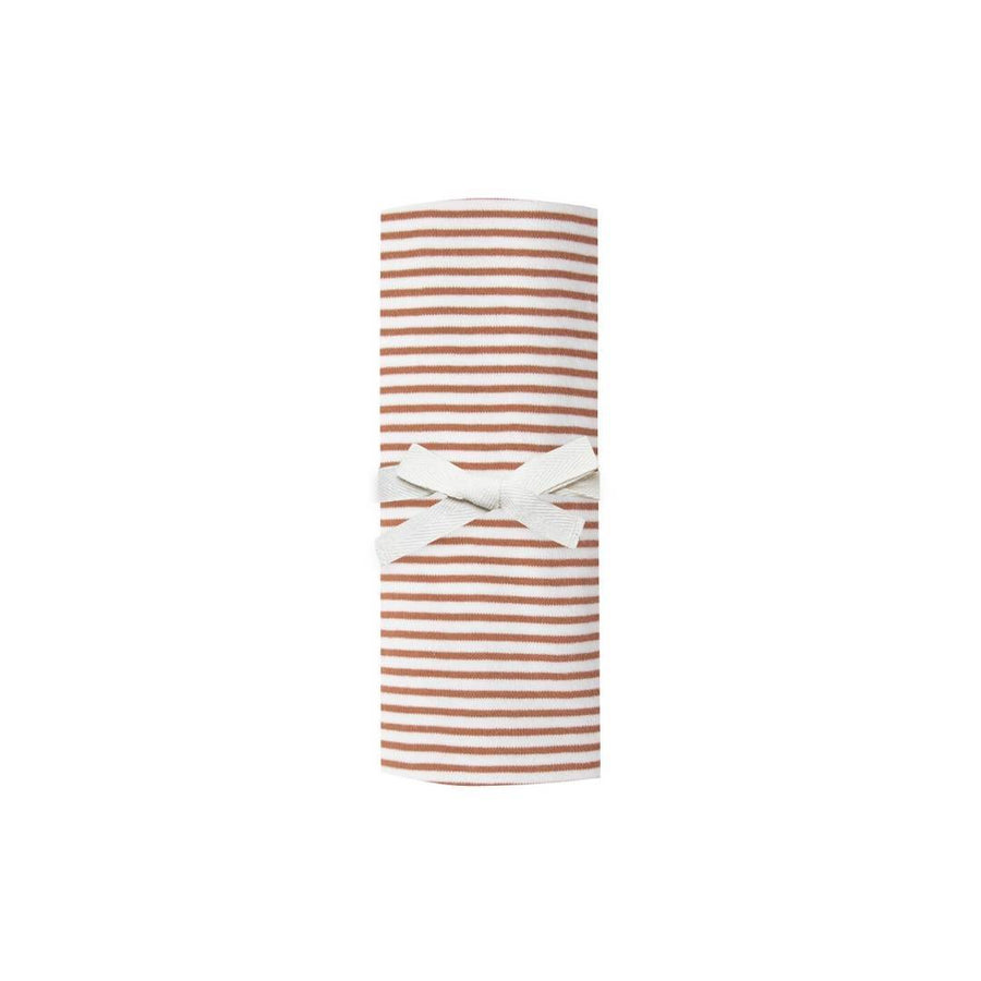 QM001E - Quincy Mae Rust Stripe Swaddle Swaddle Quincy Mae